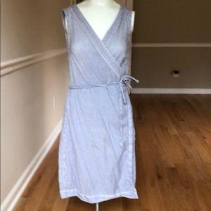 H & M LOGG cotton striped wrap dress